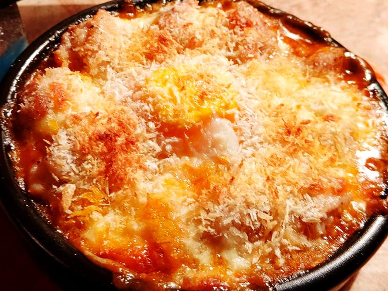 いろいろ野菜のトマトとチーズパン粉でオーブン焼き